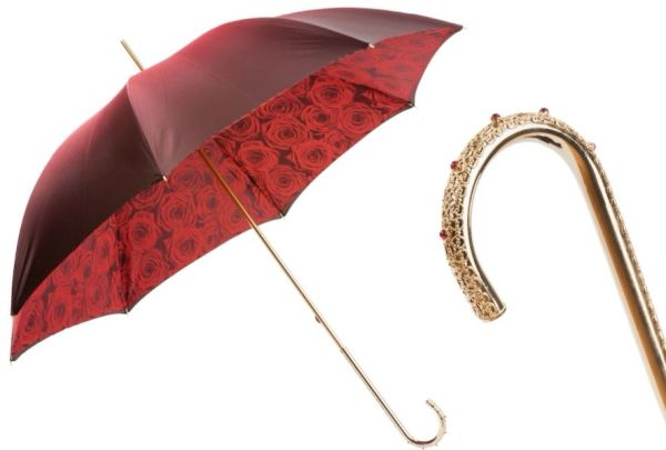Pasotti Luxury Red Roses - Double layer Canopy