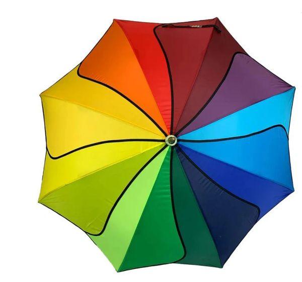 Rainbow Swirl Umbrella/Parasol - Waterproof