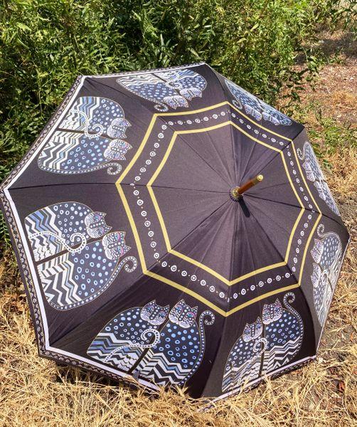 Laurel Burch Umbrella - Polka Dots Cats - Stick Style