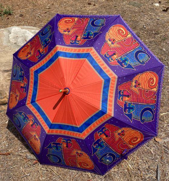 Laurel Burch Umbrella - Canine Friends - Stick Style