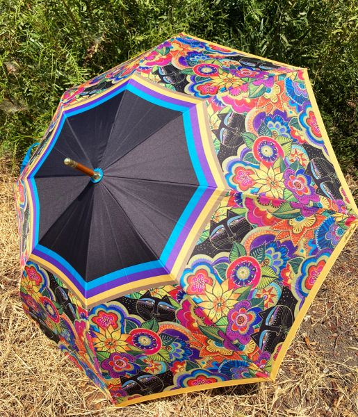 Laurel Burch Umbrella - Carlotta's Cats - Stick Style