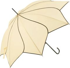 Cream flower petal shaped umbrella/parasol