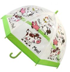 Out of stock - Kids farm animals umbrella - Clear PVC