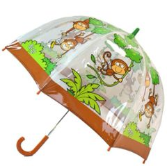 Kids monkey umbrella - Clear PVC