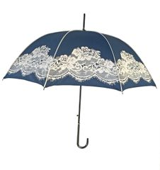 English Vintage Style Umbrella - Navy