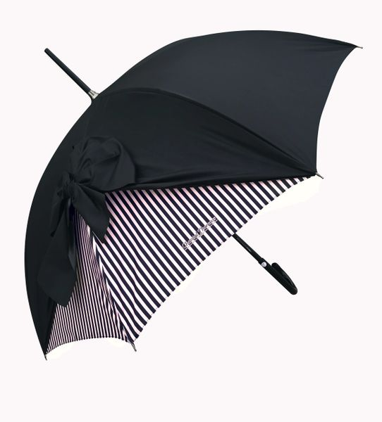 Chantal Thomass - Pink and Black Stripes - SPF50 -Waterproof - Luxury - Handmade In France