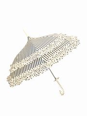 frilly STRIPES AND DOTS umbrella/parasol- waterproof