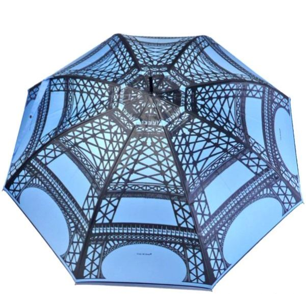 Guy de Jean - Eiffel Tower Blue Umbrella - Luxury - Handmade In France