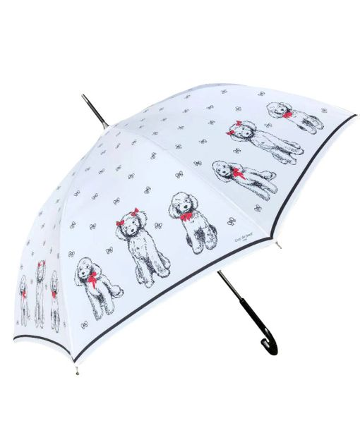 Sold - 35% off - Guy de Jean - Red Bow Poodles Cream Canopy