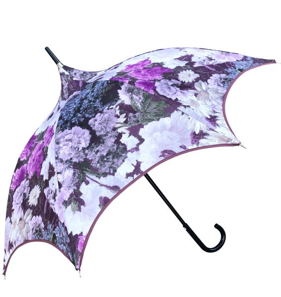 Guy de Jean - Charm Plum Umbrella - Luxury - Handmade in France