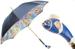 Pasotti Luxury Blue Nemo Umbrella - Double Layer Dark Blue Canopy
