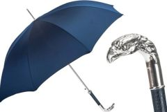 Sold - 30% off - Pasotti Luxury Silver Eagle - Single Layer Dark Blue Canopy
