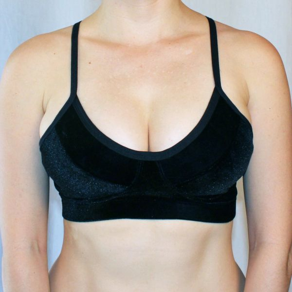 Suzette Bra in Black Stretch Velvet