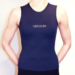 Sicilian Logo Tank Top in Navy and Brick