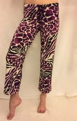 Cropped Yoga Pant in Tiger Lily