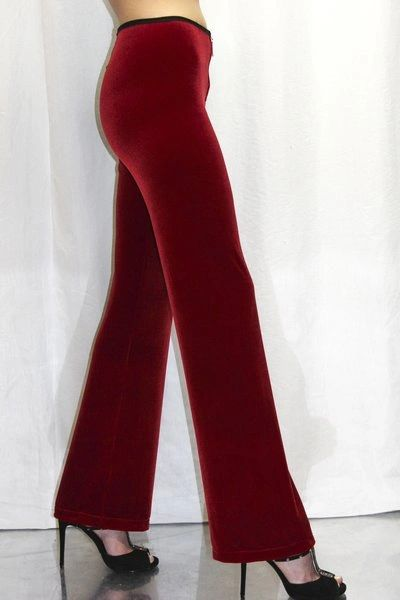 Velvet New York Pants in Red Rose