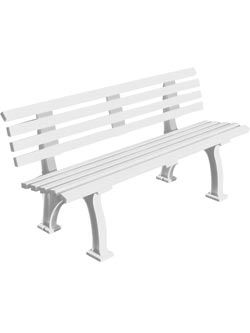 Courtside Polybench 4 Foot