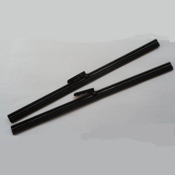 "Classic Car 10"" Steel Black Finish Flat Insert Wiper Blades x 2"