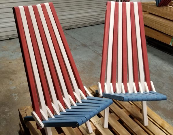 Marvelous Red White Blue Solid Wood Chair X45 Pdpeps Interior Chair Design Pdpepsorg