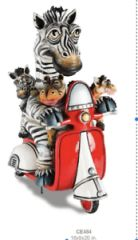 Zebra & Friends on Vespa