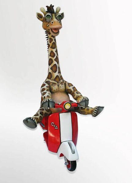 Giraffe on Vespa
