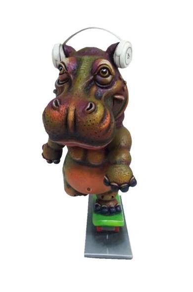 Hippo on Skateboard