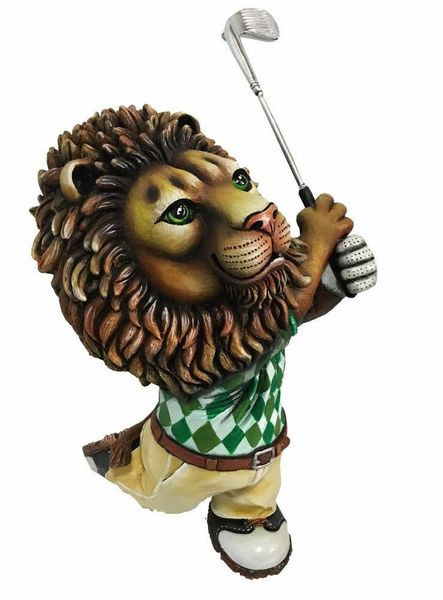 Golfing Lion