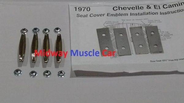 bucket seat medallion emblem ornaments emblems 1970 Chevy Chevelle El Camino