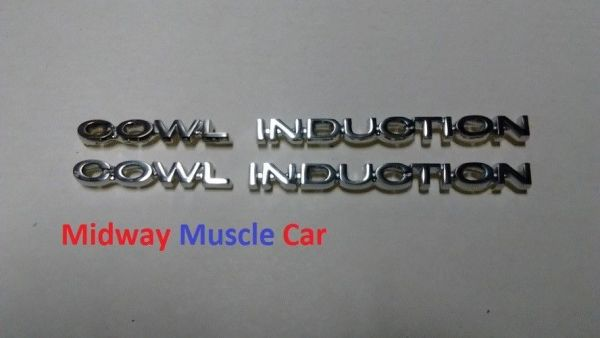 COWL INDUCTION hood emblem badges kit 4 pc 70 71 72 Chevy Chevelle El Camino