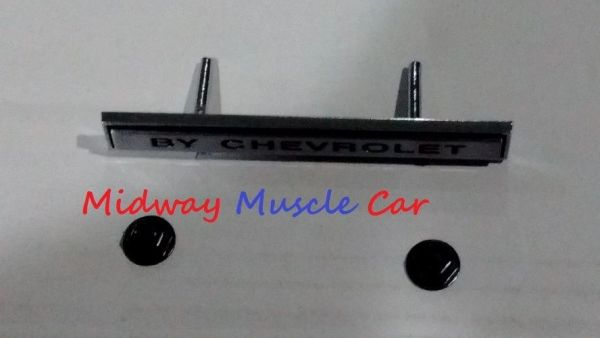 CHEVROLET front nose header emblem 69 Chevy Chevelle GM resto part