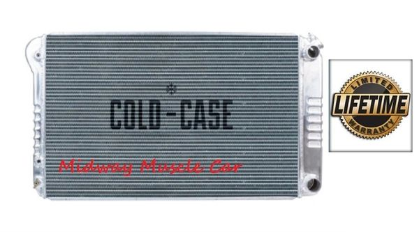 68 69 70 71 72 Chevelle GTO 442 Cutlass Skylark Cold-Case aluminum radiator for LS swap # RPE546A