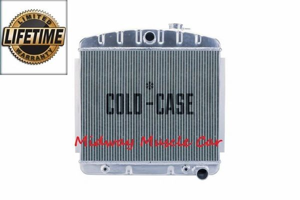 55 56 57 Chevy tri-5 Cold-Case performance aluminum radiator V8 mount # RPE562