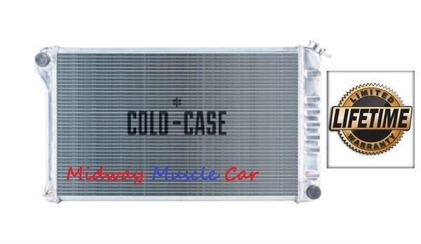 68 69 70 71 72 Chevelle GTO 442 Cutlass Skylark Cold-Case aluminum radiator w/ Man trans # RPE421