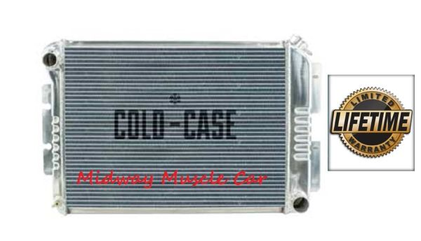 67 68 69 Firebird Camaro BB Cold-Case aluminum performance radiator w/ Manual Trans # RFE11L