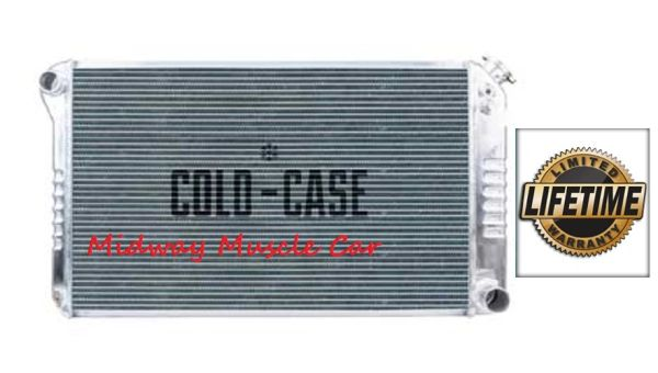 77-87 Chevy GMC Pickup truck Suburban Cold-Case aluminum performance radiator # RPE556a RPE556