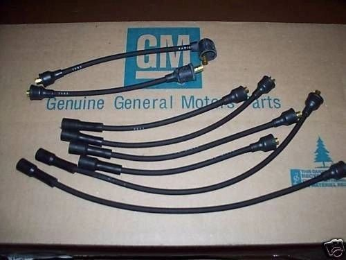 62 63 64 65 66 67 Chevy II Nova 6 cylinder date coded spark plug wires 194 250