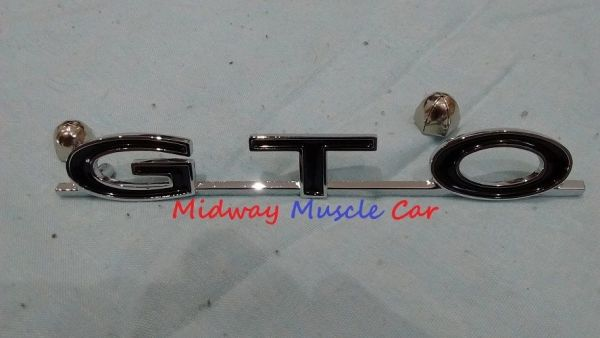 64 65 66 67 68 69 Pontiac GTO rear trunk deck lid emblem with nuts