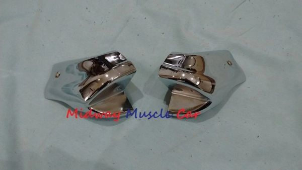 66 67 Pontiac GTO Chevy Chevelle Olds 442 convertible header chrome end caps