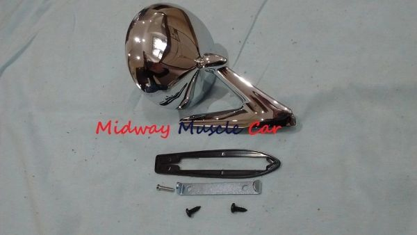 outside round side view mirror 67 68 Pontiac GTO Firebird Bonneville