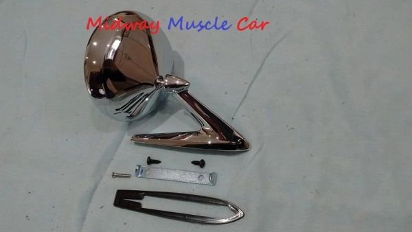outside round side view mirror 64 65 66 Pontiac GTO Firebird Bonneville