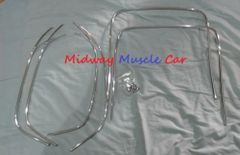 bucket seat chrome trim w/caps Chevy Chevelle GS Cutlass skylark Pontiac GTO 442