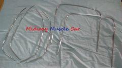 69-72 bucket seat chrome trim Chevy Chevelle GS Cutlass skylark Pontiac GTO 442