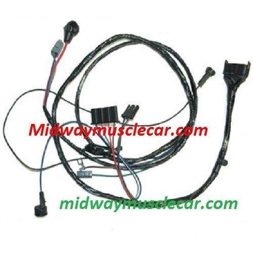 HEI engine wiring harness V8 65 Pontiac GTO LeMans Tempest w/o A/C