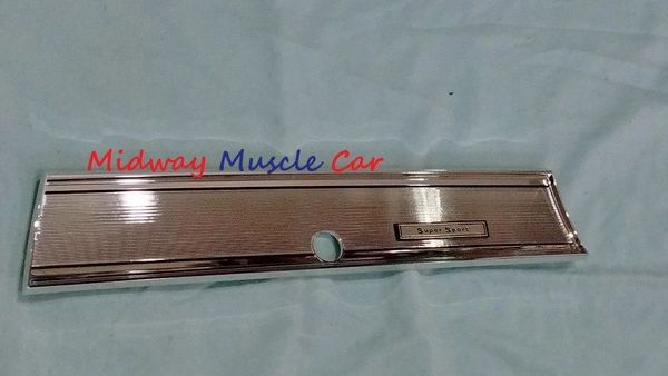SS glove box door trim plate cover bezel 67 Chevelle El Camino GM