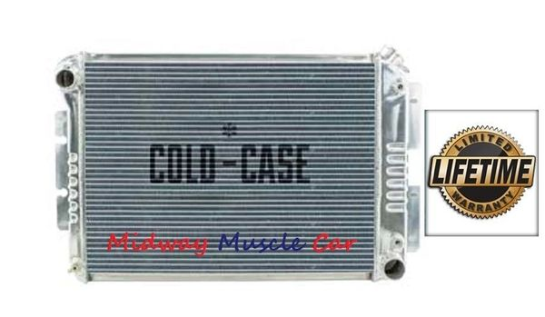 67-69 Firebird Camaro SB Cold-Case aluminum performance radiator w/ Auto Trans