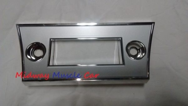 radio faceplate trim bezel surround 66 Chevy Chevelle El Camino Malibu