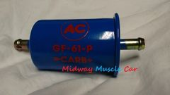 blue with red AC delco logo GF-61-P fuel filter Chevy Chevelle Pontiac GTO