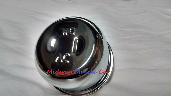 AC chrome twist on valve cover breather Pontiac GTO 442 Chevy Camaro Chevelle