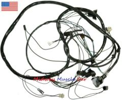 front end headlight wiring harness w/ hidden headlights 1969 Pontiac GTO judge