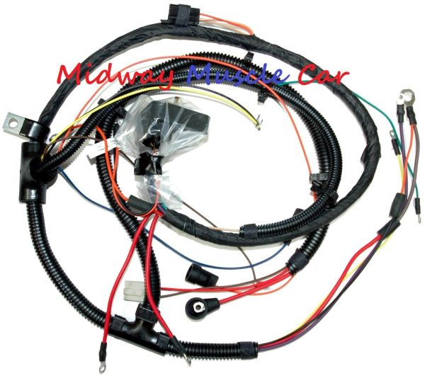 engine wiring harness 73-77 chevy chevelle malibu el camino 350 3 | midway  muscle car